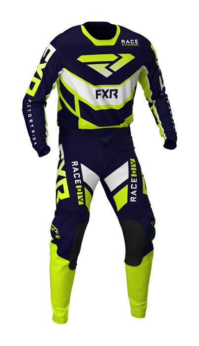 FXR Crosskleding 2021 Podium - Navy / Hi-Vis / Wit