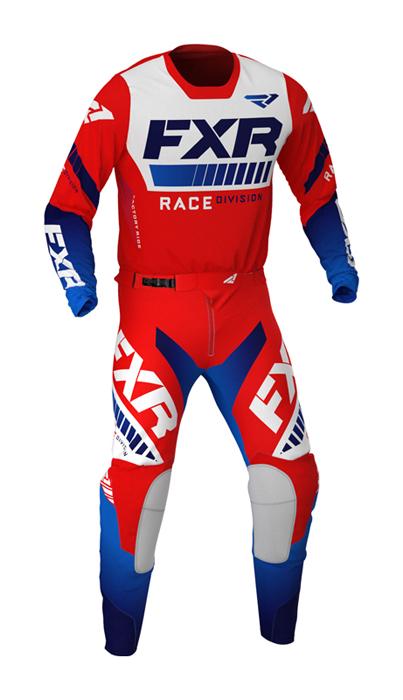 FXR Crosskleding 2021 Revo - Rood / Wit / Blauw