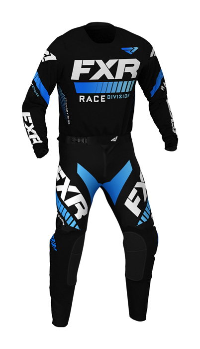FXR Crosskleding 2021 Revo - Zwart / Blauw