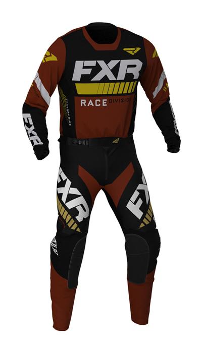 FXR Crosskleding 2021 Revo - Zwart / Rust / Goud