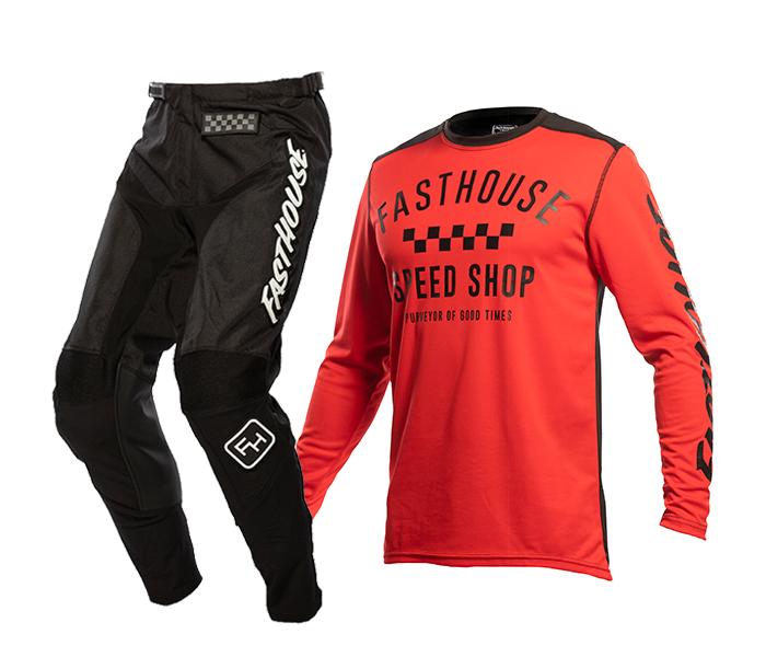 Fasthouse Crosskleding 2021 Carbon - Rood / Zwart