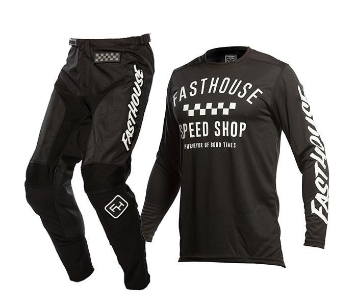 Fasthouse Crosskleding 2021 Carbon - Zwart