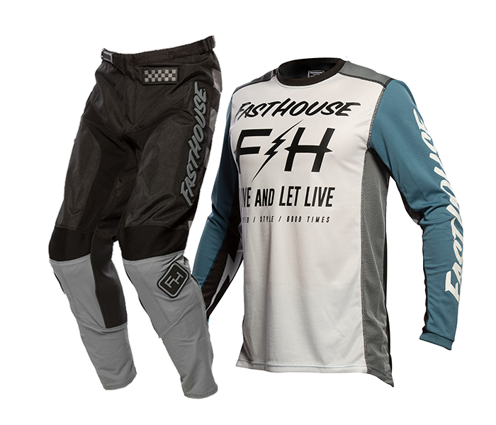 Fasthouse Crosskleding 2021 Grindhouse Clyde - Wit / Slate