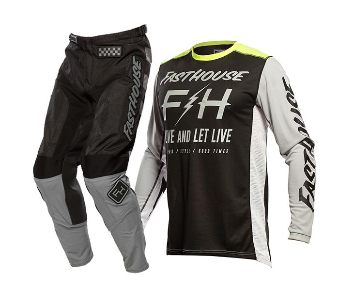 Fasthouse Crosskleding 2021 Grindhouse Clyde - Zwart / Zilver