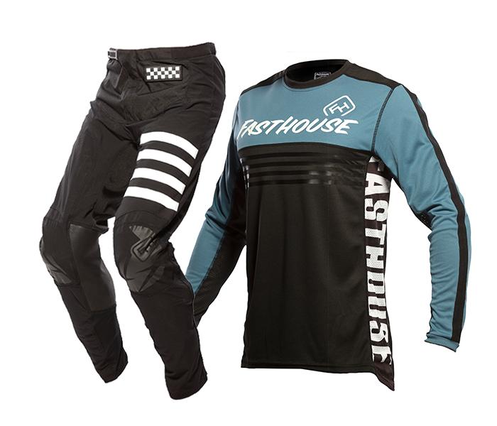 Fasthouse Crosskleding 2021 Grindhouse Split - Zwart / Slate
