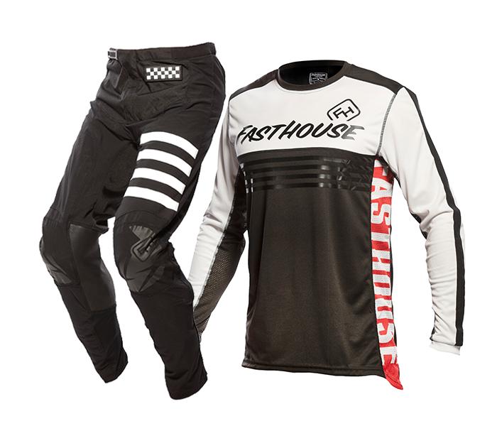 Fasthouse Crosskleding 2021 Grindhouse Split - Zwart / Wit