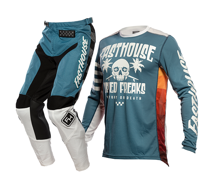 Fasthouse Crosskleding 2021 Grindhouse Swell - Slate / Wit