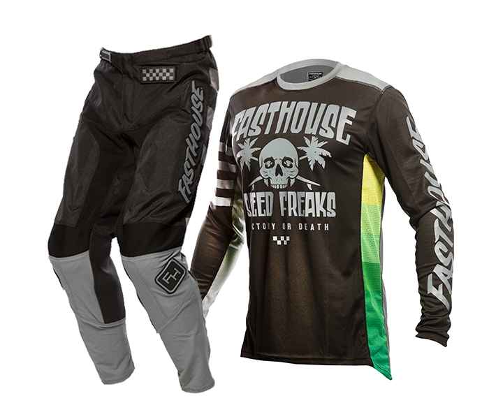 Fasthouse Crosskleding 2021 Grindhouse Swell - Zwart / Charcoal