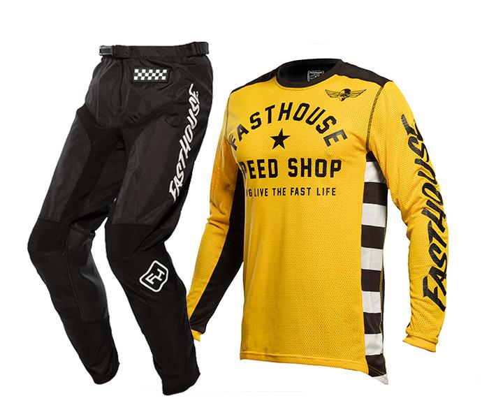Fasthouse Crosskleding 2021 Originals Air Cooled - Goud / Zwart