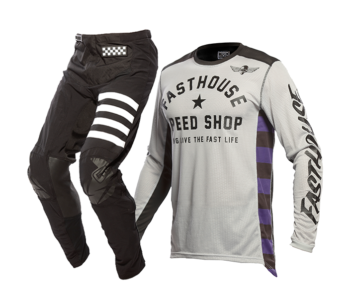 Fasthouse Crosskleding 2021 Originals Air Cooled - Zilver / Zwart