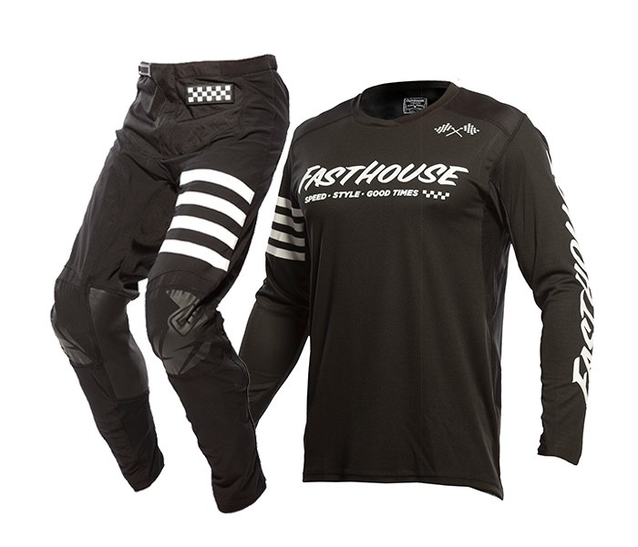 Fasthouse Crosskleding 2021 Raven - Zwart