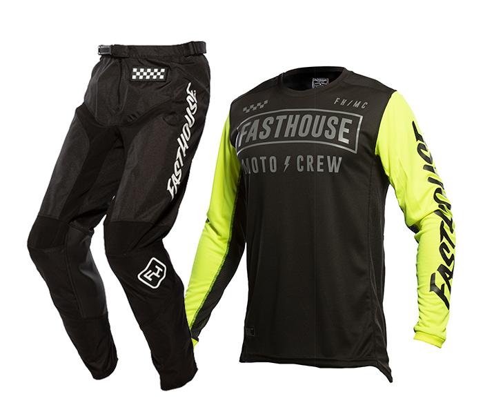 Fasthouse Crosskleding 2021 Strike - Zwart / High Viz