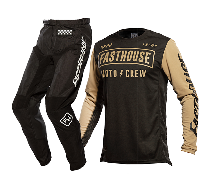 Fasthouse Crosskleding 2021 Strike - Zwart / Khaki