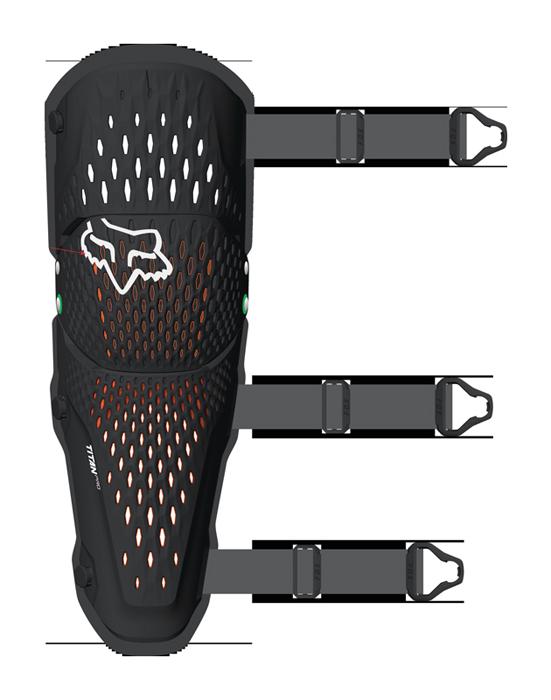 Fox Kniebeschermer Titan Pro D30 - Zwart