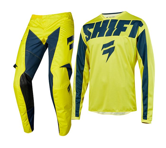 Shift Crosskleding 2019 WHIT3 Label York - Geel / Navy
