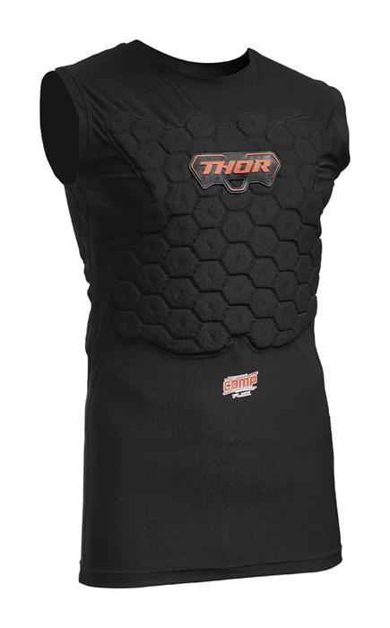 Thor Beschermings Shirt Kort Deflector Comp XP Flex - Zwart
