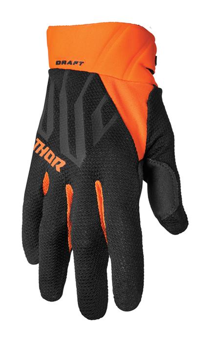 Thor Crosshandschoenen 2022 Draft - Zwart / Oranje